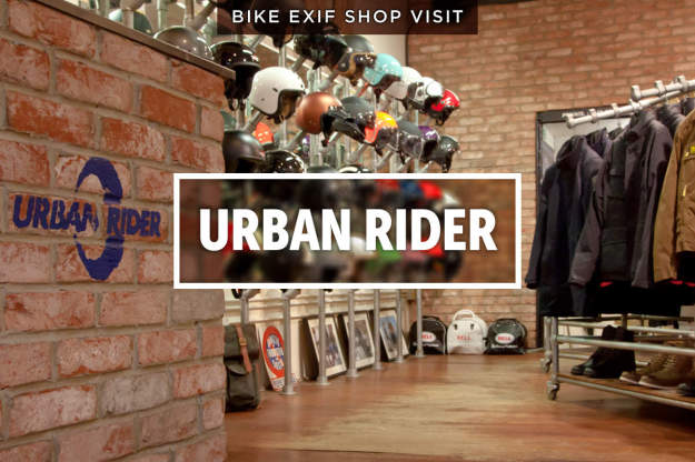 A look behind the scenes at one of London's top motorcycle gear shops, Urban Rider.