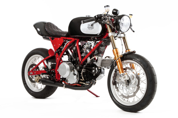 This incredible Ducati Monster-powered custom was built by Deus in LA and inspired by the raw, mechanical feel of 1960s Chevys.