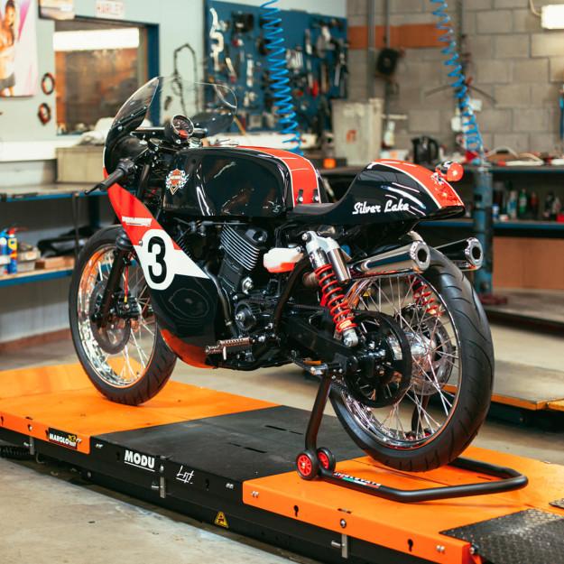 Silver Lake Harley-Davidson's stunning old school racer, based on a Street 750.