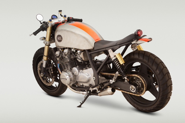 Classified Moto's radical Kawasaki custom—complete with Suzuki GSX-R front end.