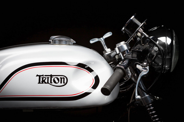Adam Grice's immaculate Triton cafe racer motorcycle.