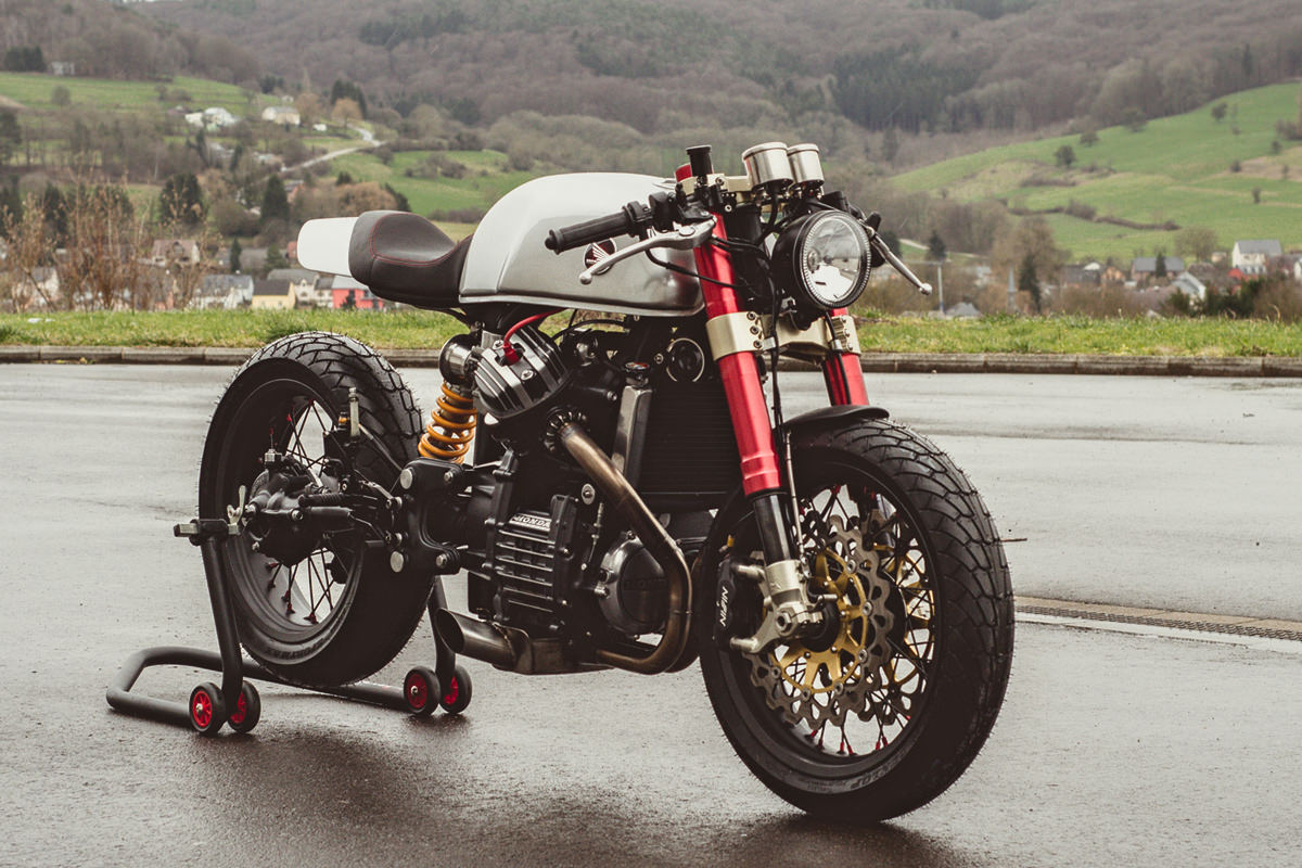 Sacha Lakic's high performance Honda CX500 cafe racer.