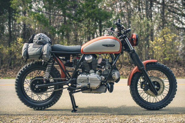 Super Scrambler: an old-school Ducati custom by Analog Motorcycles.