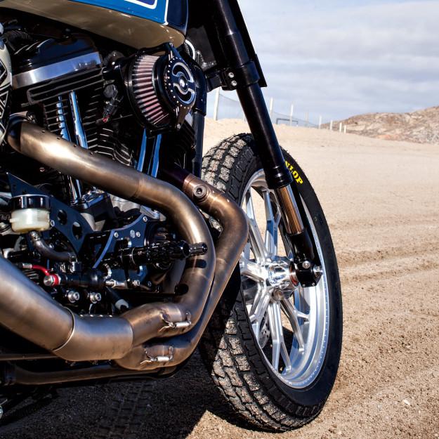 The Roland Sands Design Ameri-Tracker: a vintage-themed flat tracker based on the Harley Sportster.