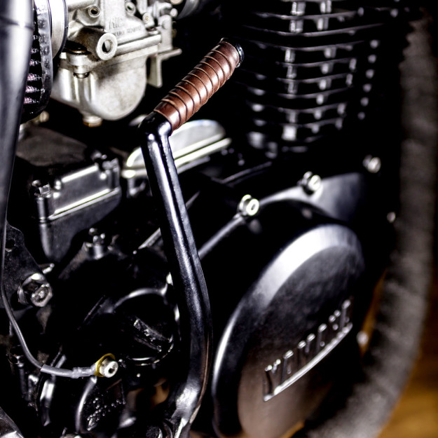 Less is more: Macco Motors' custom Yamaha XS400 is so minimal, it's even lost its electric start.