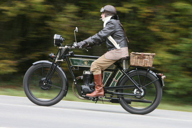 Like a two-wheeled Morgan: the Sterling Mk 5 from The Black Douglas Motorcycle Co.