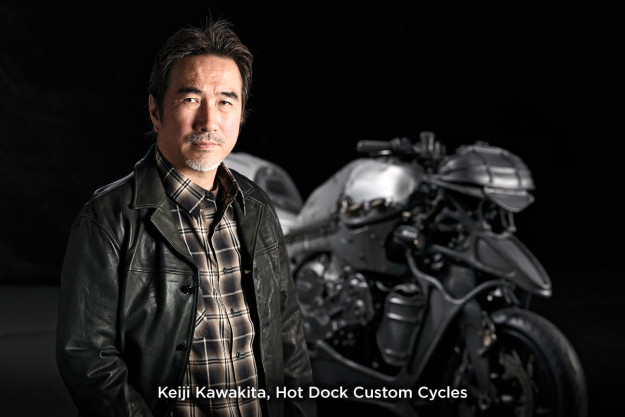 BMW custom motorcycle builder Keiji Kawakita of Hot Dock Custom Cycles