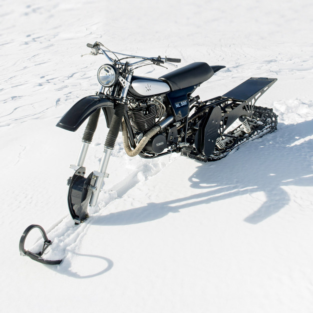 Northern Lights Optics' incredible Yamaha HL500 snow motorcycle.