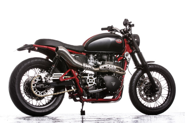 A Triumph Bonneville SE transformed by Down & Out Motorcycles.