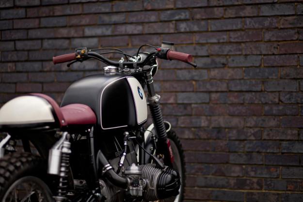 Oxblood: a classy BMW R80 street scrambler from the London shop Urban Rider.