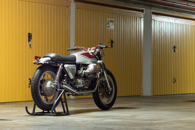 Quattrotempi: A sublime Moto Guzzi 1000 SP customized by Officine Rossopuro.