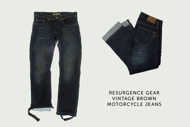 Resurgence Gear motorcycle jeans.