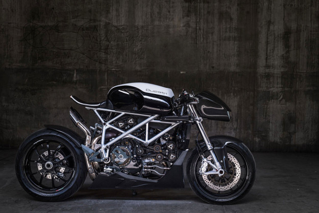 The Top 10 Custom Motorcycles of 2015: Ducati 848 by Apogee Motoworks.