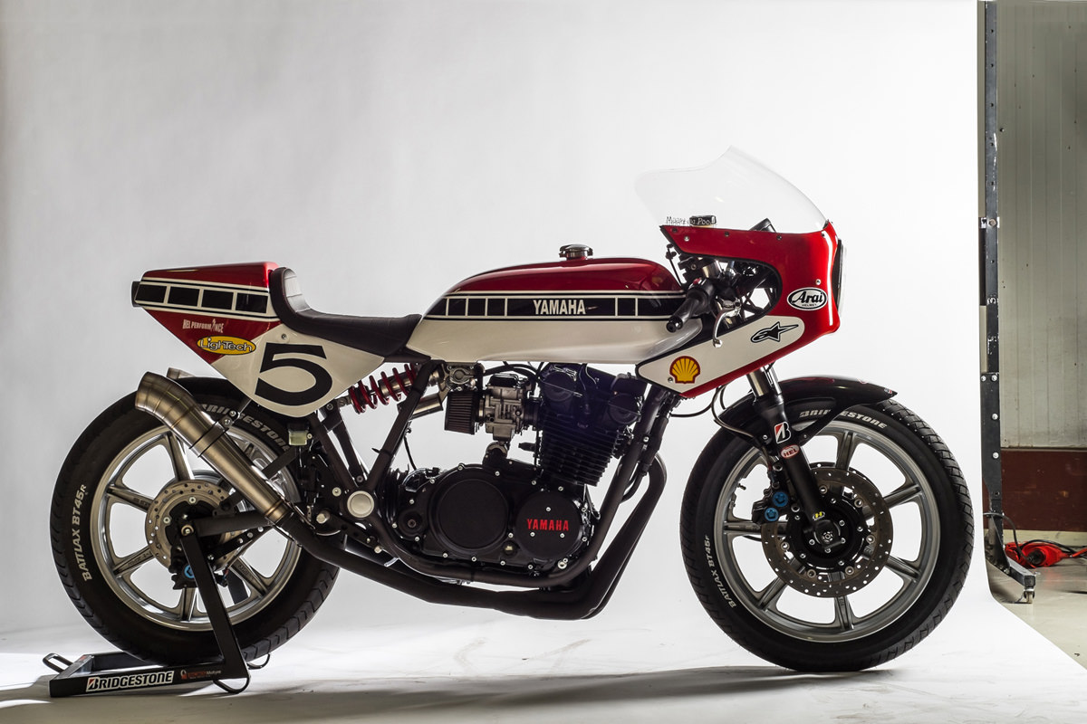 A killer race-inspired Yamaha XS850 by Dutchman Maarten Poodt.