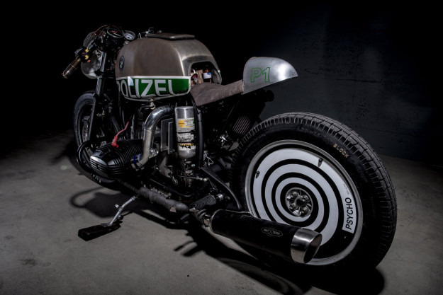 Not your usual BMW police motorcycle: this supercharged R80 is packing a NOS bottle and spits flames at the drag strip.