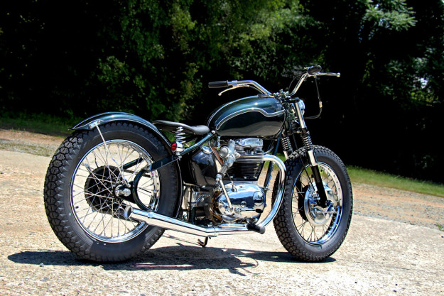 BSA A65 hardtail by The Factory Metal Works.