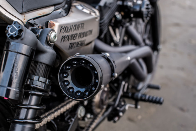 How to turn an XR 1200 into a XR750-style street tracker. Rough Crafts shows the way.