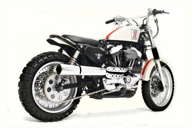 The Spirit of '71: A Harley XL1200C scrambler by Greg Hageman.