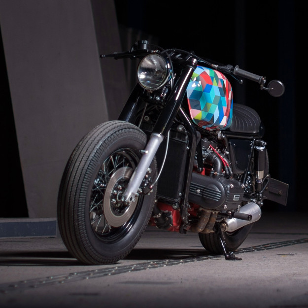 Big, brazen and beautiful: a custom Honda GL1000 Gold Wing from France.