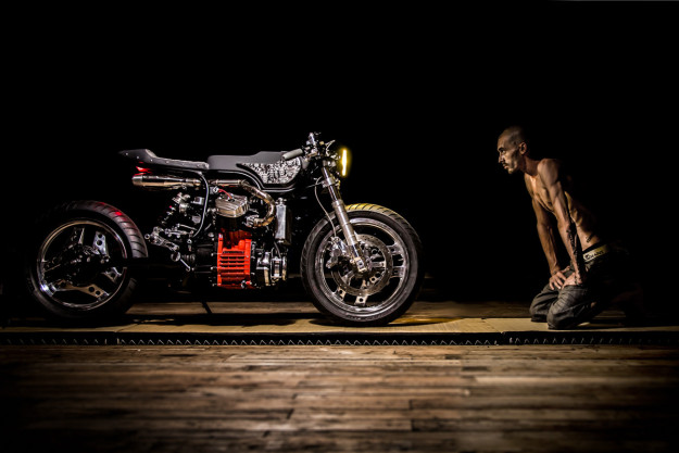 Turning Japanese: a sharp Honda CX500 custom by Ed Turner.