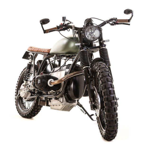 BMW scrambler by Kevils Speed Shop of Devon, England.