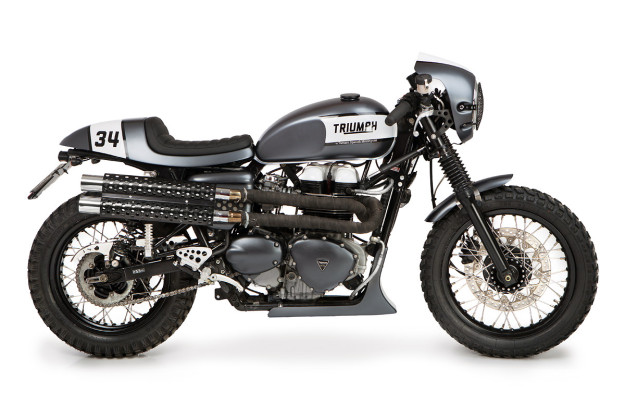 Textbook Thruxton: A Triumph cafe racer from the Spanish workshop Tamarit.