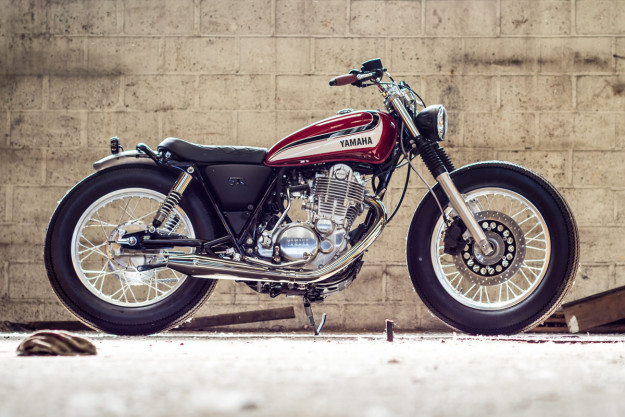 Yamaha Yard Built SR400 'Red Flake' by Planète Yam, France.
