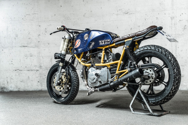 Custom Ducati Pantah racer by Hermann Köpf