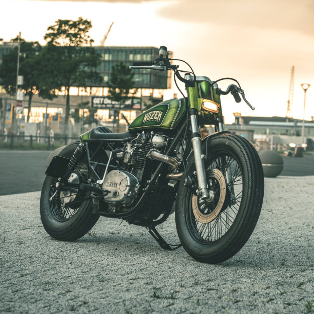 New from Nozem Amsterdam: a radical chopped Yamaha XS650.