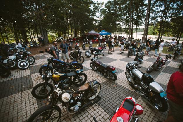Show time: Bike EXIF sponsors Ace Corner at the Barber Vintage Festival