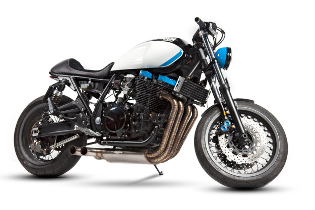 Colossus: A mighty Yamaha XJR1300 from Portugal.