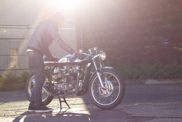 A stunning modern-day Triton cafe racer built by Wheelie Motorcycles of British Columbia.