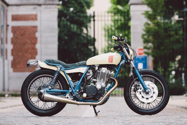 Single Shot: A custom Yamaha SR500 by Kruz Company of Belgium.