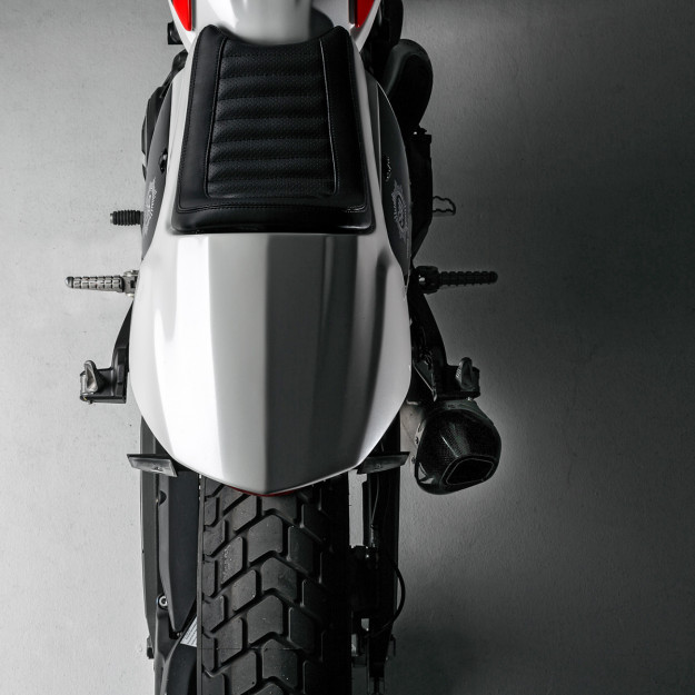 Skunk Machine: Giving the new Ducati Scrambler a cafe racer vibe.