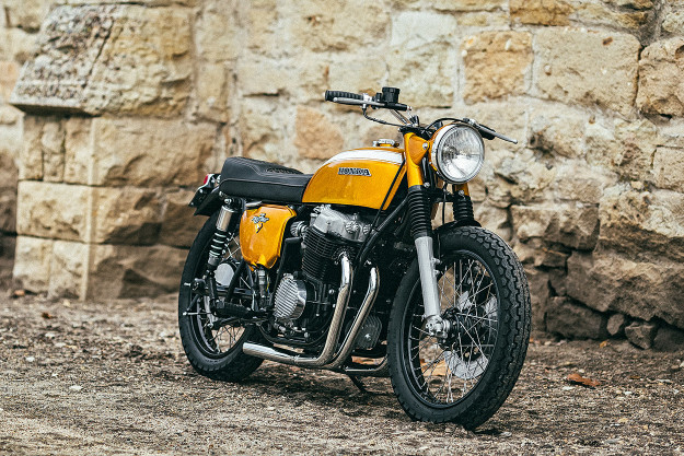 Gold Standard: 1971 Honda CB750 by Rawhide Cycles.