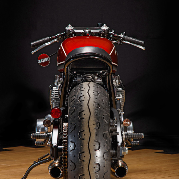 Red Rooster: A Low-Slung Kawasaki Kz1000 by Krakenhead