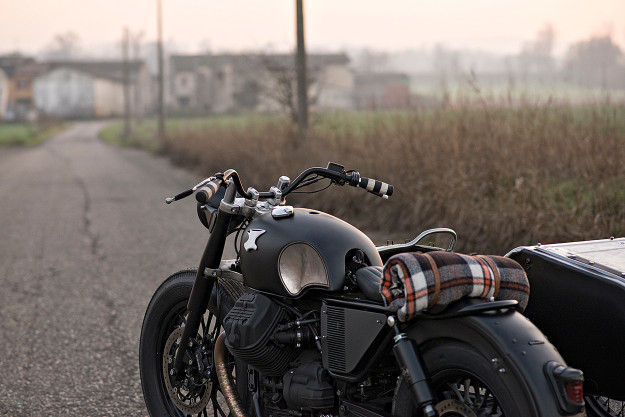 Anvil Motociclette turn the Moto Guzzi V9 into a classic gentleman's ride—complete with sidecar.