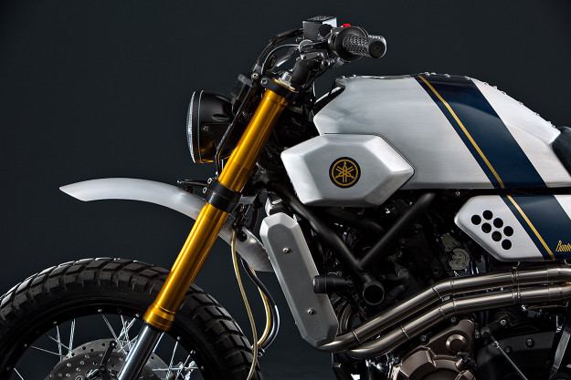 The latest Yamaha Yard Built custom: A retro-futuristic XSR700 from Bunker Custom Cycles.
