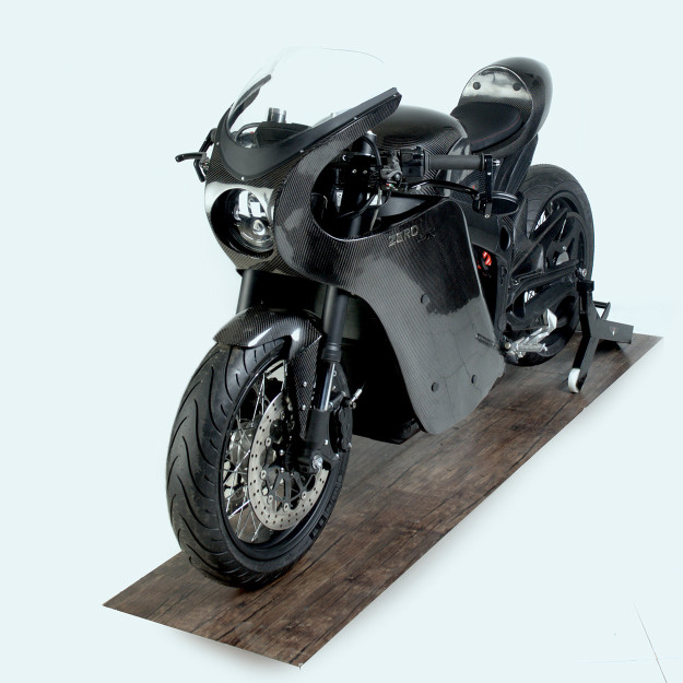 Custom Zero SR electric motorcycle.