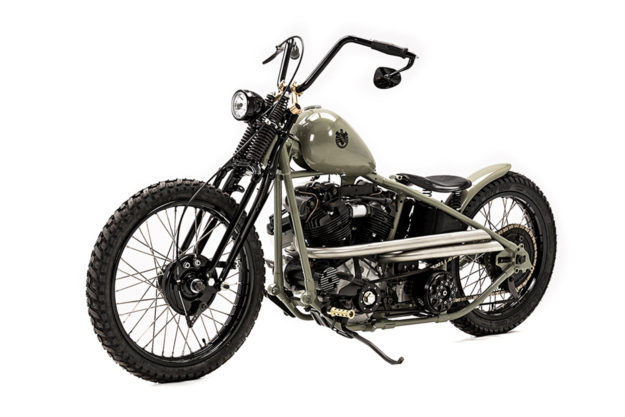 Custom Harley knucklehead by Hamburg-based master builder Ehinger Kraftrad.