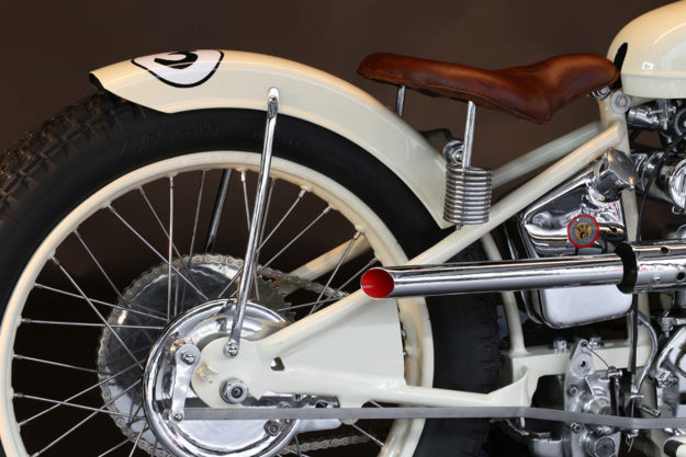 The Koehler-Escoffier Moto-Ball Special—designed for the sport of motorcycle polo in the 1930s.