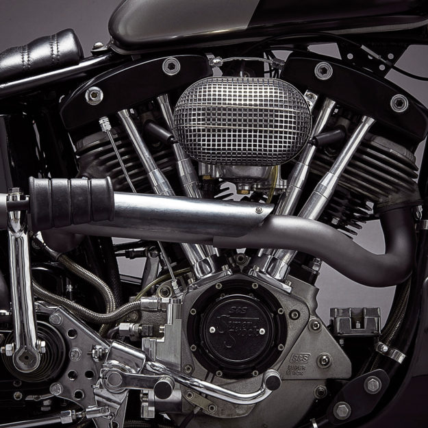 Jamesville gives a shovelhead Harley the cafe racer treatment—with incredible results.