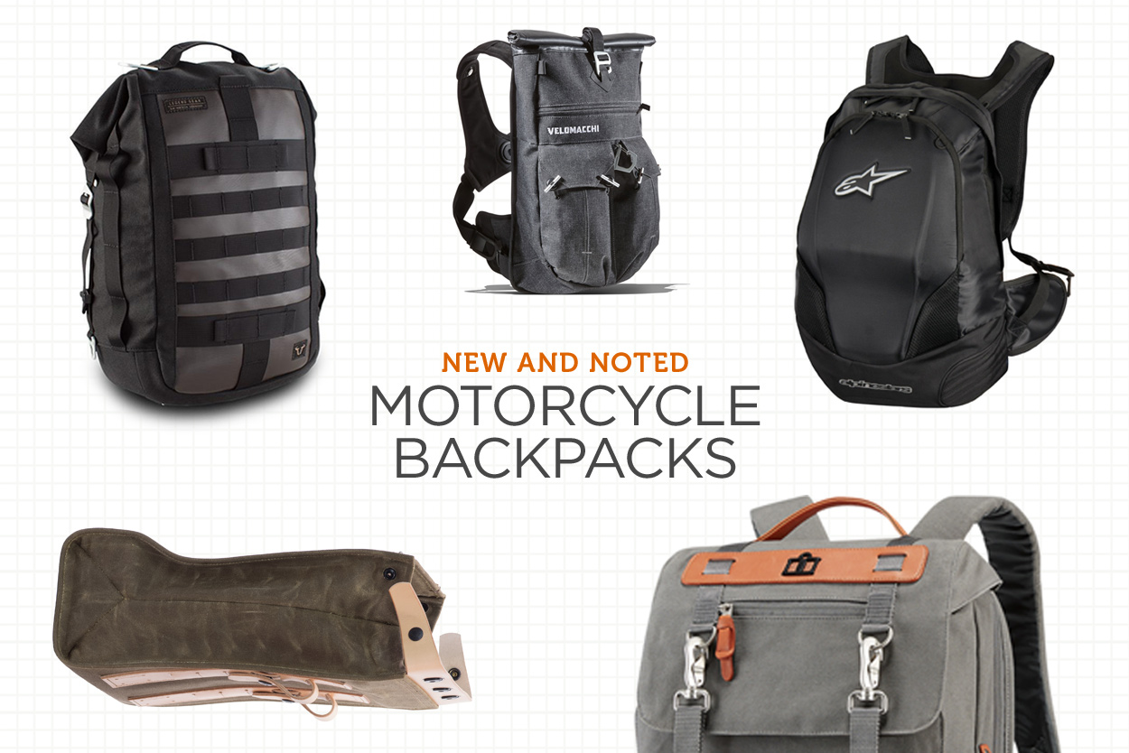 New And Noted Motorcycle Backpacks Bike Exif