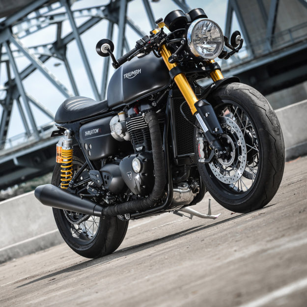 Darkster: K-Speed makes the Triumph Thruxton R look even better.