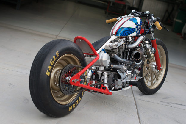 Shop Bike: A hot rodded, turbocharged Ironhead Sportster by DP Customs