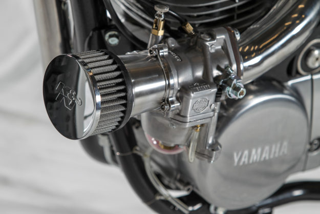 World champion bike builder Fred 'Krugger' Bertrand turns his hand to the Yamaha SR400, and the result is incredible.