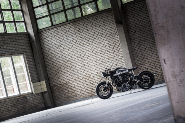 A sleek custom Yamaha XV750 by Moto Adonis of Holland.