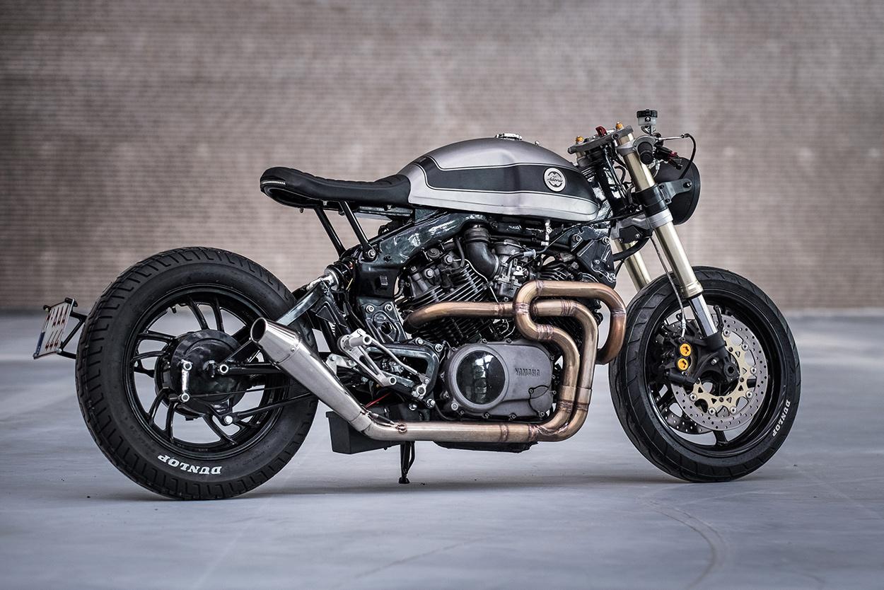 A sleek custom Yamaha XV750 by Moto Adonis of Holland.