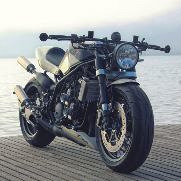 A neo-classic custom Suzuki RG400 from the French workshop Lazareth