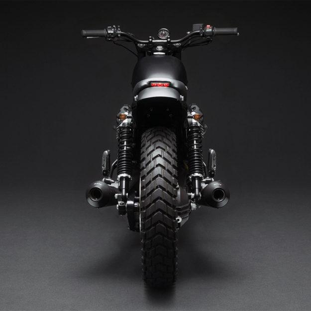 Italian American style: Moto Guzzi V7 by Venier Customs of NYC.